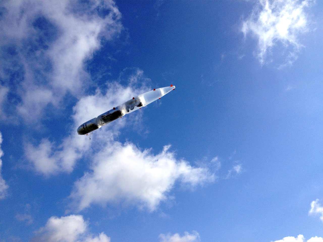 Der SkyDragon in der Luft